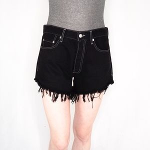 AFTER PARTY NASTY GAL Denim Frayed Shorts 0103